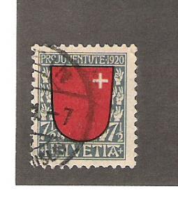 Switzerland Scott #B15 Used 7 1/2c Semi-Postal 2015 CV $11.50