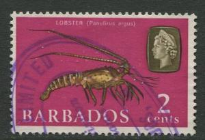 Barbados - Scott 268- QEII Pictorial Definitives  - 1965 -Used -Single 2c Stamps