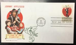 Overseas Mailer   1317   Johnny Appleseed.   Jackson  Cover   Issued in 1966.