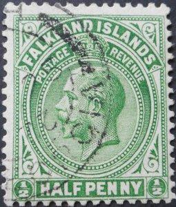 Falkland Islands 1920 GV ½d SG Z22d used.