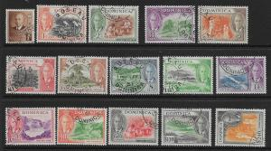 DOMINICA SG120/34 1951 DEFINITIVE SET USED