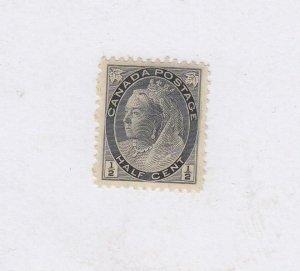 CANADA (MK6713) # 74  VF-MH 1/2cts 1898 QUEEN VICTORIA NUMERAL /BLACK CV $20