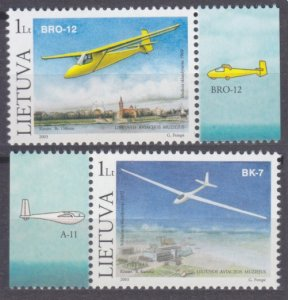 2003 Lithuania 833-834 Airplanes