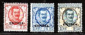 Eritrea Sc 99-101 MLH. 1926 ovpts cplt, F-VF