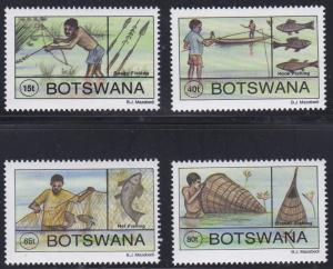 Botswana # 578-581, Traditional Fishing Methods, NH, 1/2 Cat.