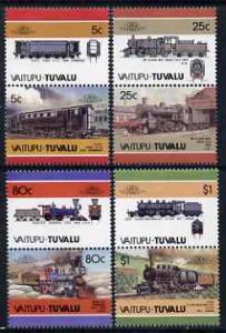 Tuvalu - Vaitupu 1986 Locomotives #2 (Leaders of the Worl...