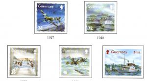 Guernsey Sc 827-31 2004 WWII D Day Landings stamp set used