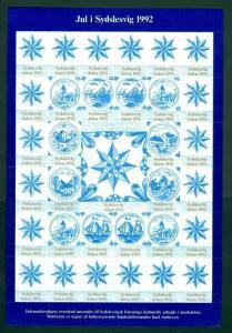 Denmark. Southslesvig Christmas Sheet 1992 Mnh. Wall Tile's