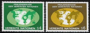 United Nations, Vienna #9-10 MNH Set - Decade For Women