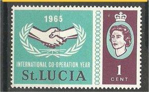 ST. LUCIA, 1965, MH 1c, Intl. Cooperation, Scott 199
