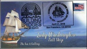 19-235, 2019, Building Bridges, Pictorial Postmark, Event, Lady Washington, Tall