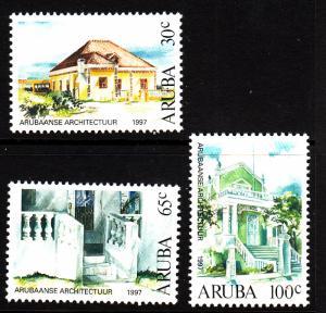 Aruba MNH Scott #147-#149 Set of 3 Aruban architecture