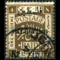 PALESTINE 1921 - Scott# 15c Opt. 1m Used