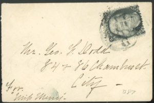 U.S. #73 COVER WITH STAMP