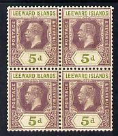 Leeward Islands 1921-32 KG5 Script CA 5d dull purple &amp...