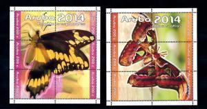 [AR770] Aruba 2014 Butterflies Schmetterlingen Papillons  MNH