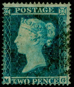 SG20, 2d pale blue plate 4, SC16, FINE USED. Cat £110. MG