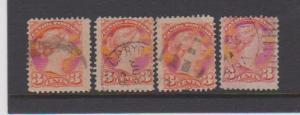 CANADA SMALL QUEEN ISSUE #37 STAMPS USED LOT#313
