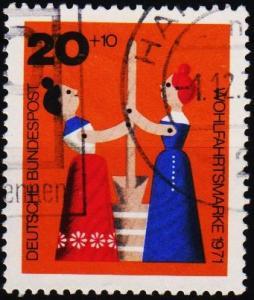 Germany. 1971 20pf+10pf S.G.1607 Fine Used
