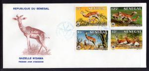 Senegal 677-680 Gazelle U/A FDC