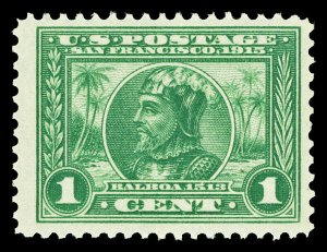 Scott 397 1913 1c Panama-Pacific Perforated 12 Issue Mint F-VF OG NH Cat $35