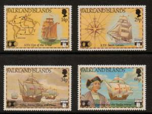 FALKLAND ISLANDS SG643/6 1991 500th ANNIV OF DISCOVERY OF AMERICA MNH