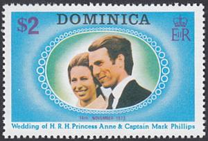 Dominica # 373 mnh ~ $2 Mark Phillips Royal Wedding
