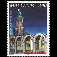 MAYOTTE 1998 - Scott# 107 Tsingoni Mosque Set of 1 NH