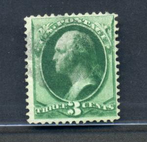 158j Washington Used Stamp Double Impression ERROR Stamp with PF Cert (158-j1)