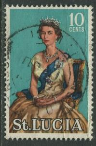 St. Lucia - Scott 188 - QEII - Definitive -1964 - FU -Single 10c Stamp