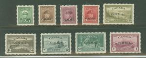 Canada O1-O10 Mint VF LH