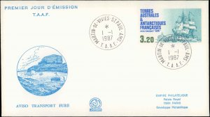 French Southern and Antarctic Terr., Worldwide First Day Cover, Ships, Polar