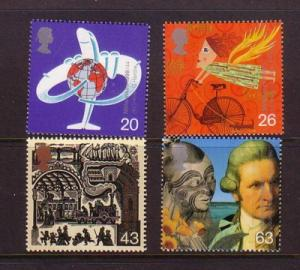 Great Britain Sc 1843-6 1999 Transportation stamp set mint NH