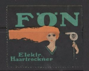 Germany AEG Foen Many Uses of an Electric Hairdryer Vignette - Woman  - NG
