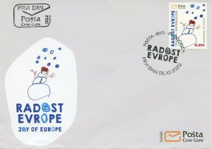Montenegro Art Stamps 2020 FDC Joy of Europe EU Children's Drawings 1v Set