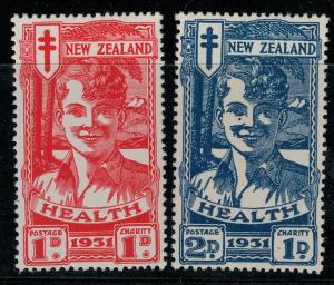 New Zealand 1931  SC B3-B4 Smiling Boys Mint CV $200.00 Set