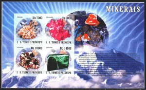 Sao Tome and Principe. 2007. bl 3098-3101. Minerals, geology. MNH.
