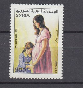 J28861, 1992 syria set of 1 mnh #1269 mother & child