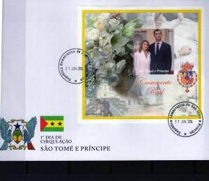 St.Thomas & Prince 2004  Spanish Royal Weeding SS (1) FDC