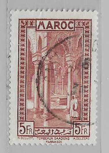 French Morocco 145 5fr Saadiens single Used