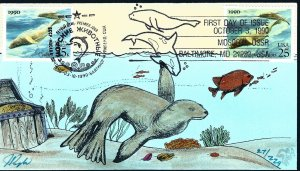 Pugh Designed/Painted Joint US & Russia Sea Lion FDC...29 of 229 created!