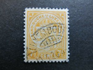 A4P27F106 Letzebuerg Luxembourg 1906-26 7 1/2c used