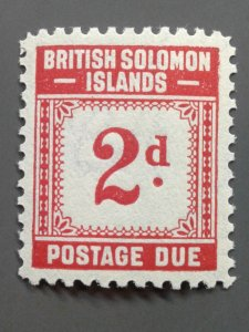 Solomon Islands J2 F-VF MLH.  Scott $ 4.75