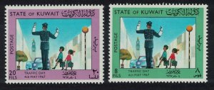 Kuwait Traffic Day Transport 2v 1967 MH SC#364-365 SG#361-362
