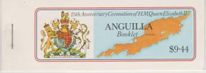 Anguilla #318z Complete Booklet  CV $3.50  (ST2688)