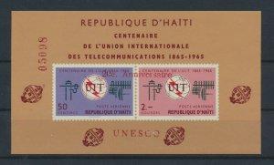 [I1990] Haiti 1965 UNESCO good sheet very fine MNH OVPT