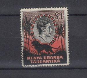 Kenya Uganda and Tanganyika 1938 £1 Perf 11.75 x 13 SG150 JK5417