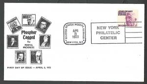 1973 COVER #1291a 30c FDC TAGGED CACHETED