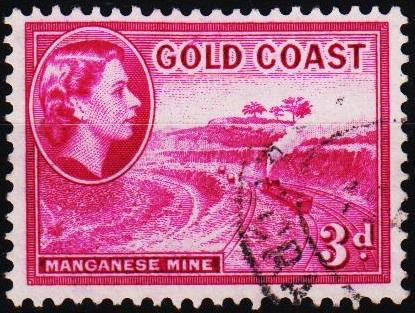 Gold Coast. 1952 3d S.G.158 Fine Used