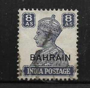 BAHRAIN, 50, USED, INDIAN STAMPS OF 1941-43, OVPTD